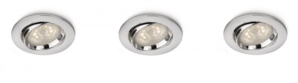 Philips LED Smart Spots Ellipse Einbauspot 3-flammig chrom 590301116